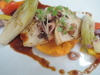 Schwertfisch-Steak mit Süßkartoffel-Stampf