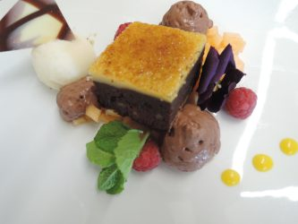 gebrannter Schokoladen-Pekannuss-Brownie